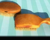 Reserved for Joe/ Royal Sweden Suit Brush and Mens Hair Brush of Satin Wood Vintage
