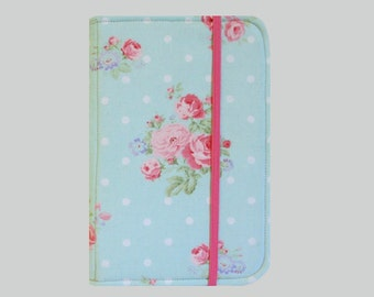 Kindle Cover Hardcover, Kindle Case, eReader, Kobo, Kindle Voyage, Kindle Fire HD 6 7, Kindle Paperwhite, Nook GlowLight Pink Roses
