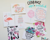 Oops/Overstock Summer SALE CS04 - set of 8 various occasion greeting cards