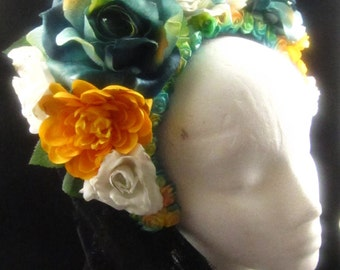 OOAK Morning Dew Headdress for Day of the Dead/Wedding/Cospay