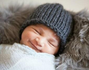 Newborn Hat Boy, Newborn Boy Hat, Newborn Photo Prop, Newborn Boy Photo Prop, Newborn Boy Props, Newborn Boy Beanie, Newborn Baby Boy Hat