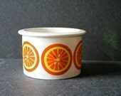 Vintage Arabia Finland Jam Pot Jar Kaj Franck Oranges