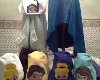 Hooded Towel with Princess on it