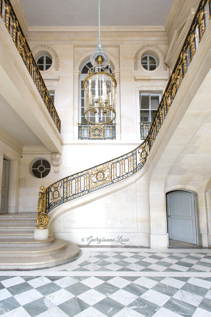 Versailles France Photography Staircase At Le Petit