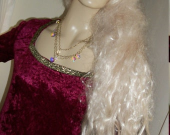Vintage Lady Godiva Platinum Blonde Wig Super Long One Size Fits Most