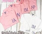 Bridal Party Shirts | Monogram Bridesmaid Shirts | Set of 5 | Button Down Shirts | Getting Ready Shirts | Wedding Day Shirts |