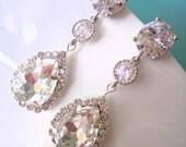 CRYSTAL Bridal Earrings Jewelry CZ Wedding Jewelry Wedding Drop Earring Bridesmaid Earring Long Earring