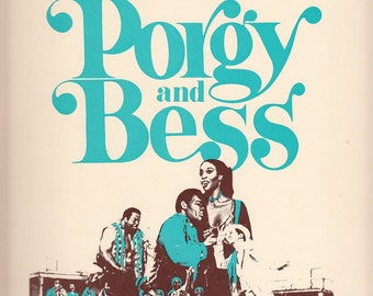 Porgy and Bess Vocal Selection Song Book 1980 George Gershwin Dubose Heyward Ira Gershwin