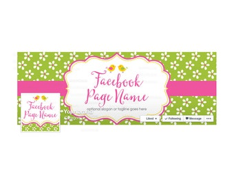 Timeline Cover and Profile Picture - Facebook Timeline Cover - Social Media Cover - Birdie & Blossoms