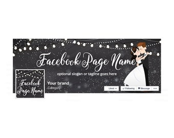 SALE 30% OFF Facebook Banner Sets - Facebook Timeline Cover - Wedding Facebook Cover - Social Media Cover - Wedding 1