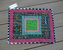 SALE Small Dog Quilt or Feeding Mat Pet Quilt for Dog Lover New Puppy Gift