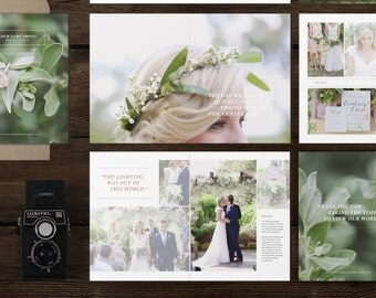 Wedding Magazine Template for Photographers - Photography Welcome Packet - Price List - Bridal Guide