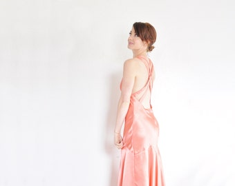 peach bachelorette sparkle gown . YES you will accept that rose, are you kidding me .medium .sale