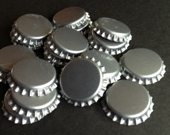 Lot of 22 NEW, UNCRIMPED, Unused Silver Colored Bottle Caps