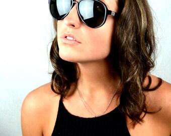 RARE Vintage 1950s 60s B & L Ray Ban Wayfarer Aviator Black Sunglasses - Vagabond