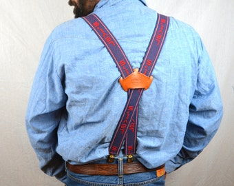 Awesome Vintage Levis Blue Red RARE Suspenders