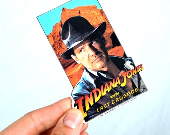 Vintage 1989 Indiana Jones Last Crusade 80s Movie Promo Pin