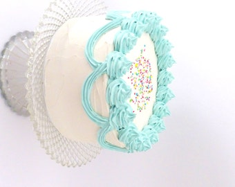 Preschool Prop FAKE CAKE To Blow Out Candles To Celebrate A Birthday Party,Great Prop For Any Birthday Party To Use Over And Over Again,blue