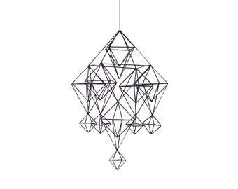 MAESA - Modern Hanging Mobile | Air Plant Hanger | Geometric Himmeli Sculpture Active