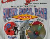 Cadillac Jack's Super Bowl Bash 1992 vintage t-shirt size med/large