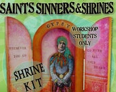 Workshop CURVED SHRINE Kit - Reserved for Students Only - Saints, Sinners & Shrines - Alternatives to Honoring the Divine Within