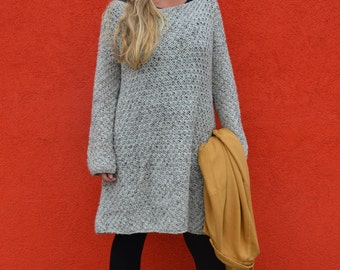 wood & wool pattern knitted sweater dress ENGLISH and DUTCH VERSION