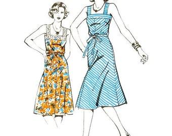 1970s Sun Dress Pattern Ullstein 8277 B34