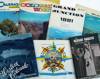 VINTAGE COLORADO TOURISM, Lot of Books, Brochures, and More from the Rocky Mountain State