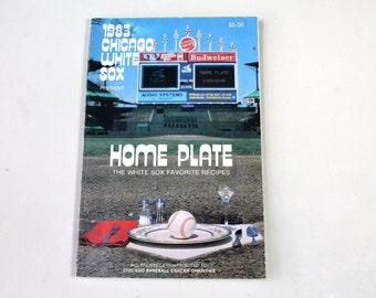 1983 Chicago White Sox Baseball Team Home Plate Favorite Recipes Cook Book, Photographs Recipes, White Sox Fan Gift, Baseball Memorabilia