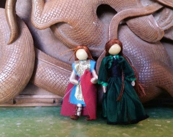 "Miniature St. Michael and Princess 2"" tall  - Custom Order"