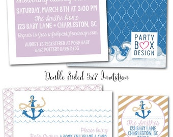 Baby On Board Shower Invitations (20 printed 5x7)