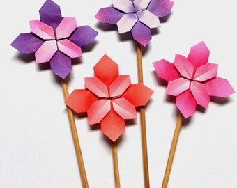 Origami Flower Cake Toppers - Hydrangea - Collection 3