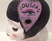 fascinator sparkly handmade hair clip ouija superstitious glittery witchcraft creepy spooky quirky occult gift halloween christmas NYE party