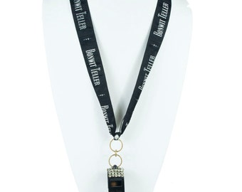 Bonwit Teller Black Whistle Necklace   N3690