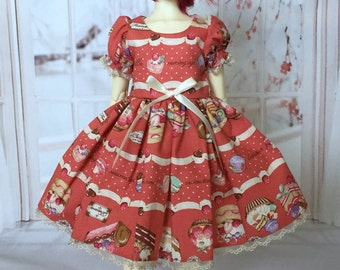 Meringues and Macarons - MSD BJD Red sweets lolita dress