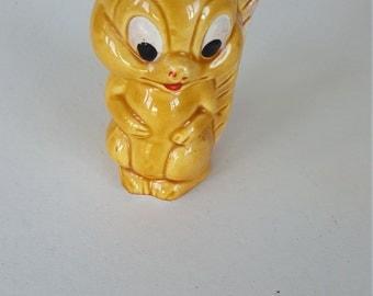 Ceramic Yellow Squirrel Figurine