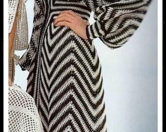Crochet Pattern - Kaftan Robe Beachwear Instant download