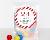 "Glassine Bags (3""x5.5"") - Treat Bags or Candy Bags for Party Favors - Set of 24"