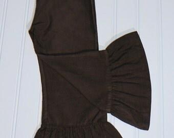 SALE Girls Ruffle Pants, Corduroy Ruffle Pants, Brown Ruffle Pants, Girls Outfit, Girls Clothing, Boutique Ruffle Pants, Boutique