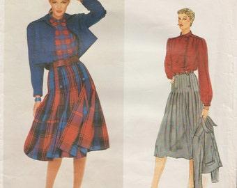 Vogue Paris Original 2322 / Vintage Designer Sewing Pattern By Christian Dior / Jacket Skirt And Blouse / Size 12 Bust 34