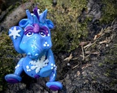 Polymer Clay Dragon 'WINTER' - Limited Edition Collectible from the Seasons Series