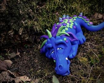 Polymer Clay Dragon 'Sir Sleeps a Lot' - Limited Edition Handmade Collectible