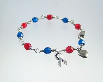 Hypoplastic Left Heart Syndrome HLHS Awareness Bracelet