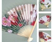 Hand Fan Decor Flower Fan Wall Hanging Wood Fan Decoration Paper Fan Decorative Fan Japanese Asian Floral Fan Bird Fan Folding Fan Oriental