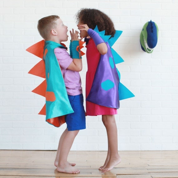 Children Dinosaur Costume Cape Easter for kids and Adults- You choose colors- Simple Easter costume sibling costume