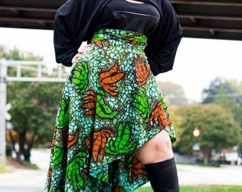 "African Print Plus Size High Low Peplum Belt   ( 2 - 24 ) 30"" L ...choose your fabric"