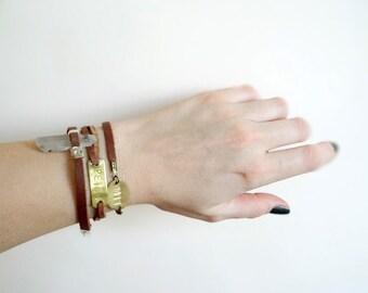 Personalized Leather Bracelet, Name Bracelet, Initial Bracelet, Bracelet for Him, Bracelet for Her,