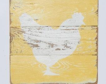 Farm Art -Hen Art- Wood Art-Kitchen Decor