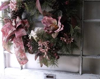 Vintage Wood Pane Window Frame. White Rustic Shabby Cottage Wall Frame. Romantic Rustic Charm Display.  Wedding Photo Backdrop