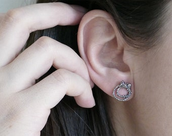 Floweret Silver Studs / AMARANTA Collection